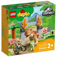 【領券滿額折50】樂高LEGO 10939   Duplo 得寶系列  T. rex and Triceratops Dinosaur Breakout