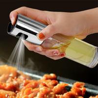 ✤宜家✤按壓玻璃噴霧油壺 家用廚房油罐 防漏噴油瓶