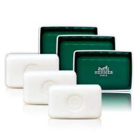 【Hermes 愛馬仕】橘綠之泉香皂 香水皂 50gX3入組-含盒(航空版)