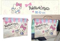 權世界@汽車用品 Hello Kitty 知心系列 車用遮陽窗簾 68x52cm(1入) PKTD009P-06