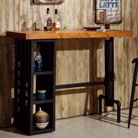 【AT HOME】庫克4.6 尺貨櫃造型洽談桌/休閒桌/吧台桌/餐桌