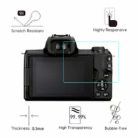 2PCS 2.5D Digital Camera Tempered Glass For Canon EOS M50 Mark II 2 MarkII Screen Protector Film Water-proof Anti-Scratch Glass