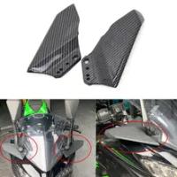 รถจักรยานยนต์ Winglet Aerodynamic ABS Wing ชุดสปอยเลอร์สำหรับ Kawasaki Ninja 250 300 400 650R ZX6R ZX10R Z800 Honda CBR600RR CBR1000RR
