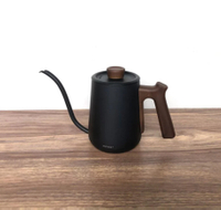 金時代書香咖啡 Minos  有蓋手沖壺 600ml 黑木紋色 Minos-POC-600-CPBK