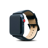 【Alto】Apple Watch 皮革錶帶 42/44mm - 渡鴉黑(真皮錶帶)