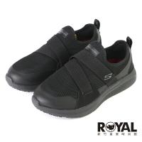 Skechers Slip on Athletic 黑色 寬楦 皮質 記憶鞋墊 工作鞋 女款 NO.J0967【新竹皇家 108008W-BLK】
