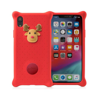 【Bone】iPhone XR 泡泡保護套 手機殼 - 麋鹿先生(四角防撞 無毒環保矽膠)