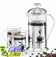 [106美國直購] 咖啡杯 Gourmia GCM9840 French Press Coffee Maker Includes 600ml Decorative French Press Coffee