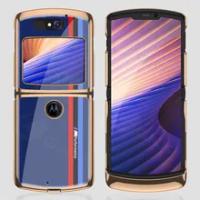 Luxury Organic Glass Plating Fold Case For Motorola Moto Razr 5G Anti-knock Edge Hard Protection Cover For Motorola Razr 5G Case