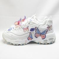 Skechers D LITES SIMPLY 女款 休閒鞋 149233WLV 白 蝴蝶【iSport愛運動】