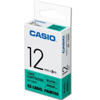 【CASIO 卡西歐】標籤機專用色帶-12mm綠底黑字(XR-12GN1)