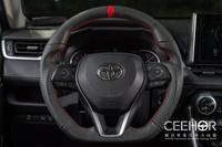 [細活方向盤] 全牛皮紅環款 RAV4 ALTIS CAMRY Corolla CROSS SPORT CC TOYOTA 豐田 變形蟲方向盤 方向盤 台灣製造 造型方向盤