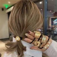 แฟชั่นผู้หญิงทองคำขาวผมสำหรับสาวผมหางม้ามุกผมเชือกวงPunk Gothic Letterอุปกรณ์เสริมผม