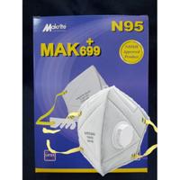 (非醫療)SEKURA 699+ 摺疊式N95口罩-帶氣閥+活性碳