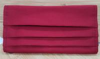 防疫商品 棉質 口罩保護套酒紅色  輕鬆吃