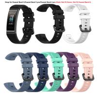 適用於 Huawei Band 3 / Band 3 Pro / Band 4 Pro 矽膠錶帶更換錶帶配件 (不適合