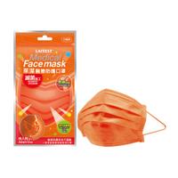 萊潔 醫療防護成人口罩-淡橙橘(5片入/袋)