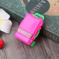 แฟชั่นกระเป๋าเดินทางตุ๊กตาอุปกรณ์เสริมของเล่นเด็กกระเป๋าเดินทางสำหรับตุ๊กตาบาร์บี้54DF
