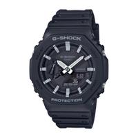 CASIO G-SHOCK 八角型錶殼雙顯錶-黑白 (GA-2100-1A)