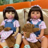 NPK 55 Cm Full Body Silikon Boneca BEBE Boneka Balita Gadis Putri Bayi Mandi Mainan Fleksibel Lembut Sentuhan Nyata Anak-anak 'S Hari Hadiah