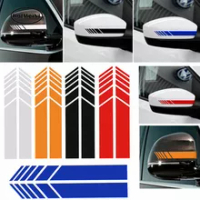 Car Accessories 2PCS Rear View Mirror Sticker Reflective and Decals Car stickers Mirrors Decoration Exterior Accessories