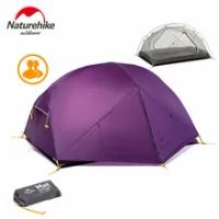 Naturehike Camping เต็นท์2-3คน Mongar Ultralight เต็นท์กลางแจ้งเต็นท์ท่องเที่ยว20D ไนลอนผ้า Double Layer เต็นท์กันน้ำ