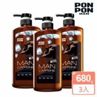 【澎澎MAN】咖啡因勁涼洗髮露-650g+30g(團購3入組)