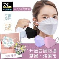【小魚嚴選】韓國KF94雙層融噴布四層防護口罩(10入/包*4包)