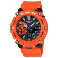 刷卡滿3千回饋5%點數|CASIO 卡西歐 GA-2200M-4A / G-SHOCK系列 戶外冒險雙顯手錶 / 橘 47mm