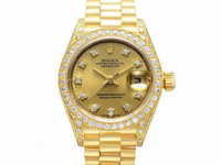 ROLEX錶 勞力士 69158 女錶 原廠鑽石時標+鑽圈 18K金 編號H32039