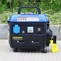 小巧便捷650W迷你汽油發電機 110/220V單相超輕手動家用小型發電機