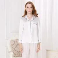 22 Momme Silk Pajamas For Women Mulberry Silk Sleepwear Lady Long-sleeved Real Silk Pajama Sets Plus Size Female Nightwear