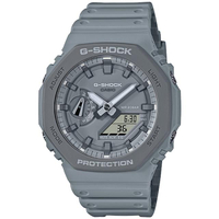 【CASIO 卡西歐】G-SHOCK Urban Outdoor風格八角農家橡樹雙顯手錶(GA-2110ET-8A)