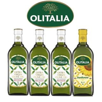 【Olitalia奧利塔】特級初榨橄欖油x3+葵花油x1(1000mlx4瓶-禮盒組)