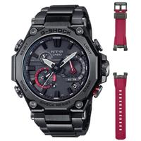 【CASIO 卡西歐】MT-G系列 碳纖維核心 藍牙多功能電波腕錶 *附贈可替換錶帶*(MTG-B2000BDE-1A)