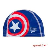 【SPEEDO】兒童合成泳帽 Pace(美國隊長)