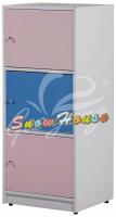 ╭☆雪之屋居家生活館☆╯R536-02 PW-003塑鋼三層櫃(有門)書櫃/書架/置物櫃/雜物櫃/收納櫃