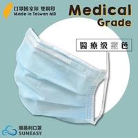 【順易利】MD雙鋼印醫療級成人三層口罩 50片(藍色)