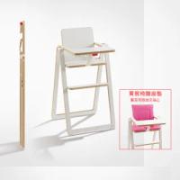 【奧地利SUPAflat】獨家限定兒童折疊高腳餐椅-白色 贈固定掛勾