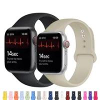 สายซิลิโคนสำหรับ Apple Watch Band 44มม.42มม.Smartwatch Watchband สร้อยข้อมือ IWatch 40มม.38Mm Correa สำหรับ Apple Watch 6 SE 5 4 3