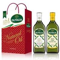 【Olitalia奧利塔】特級初榨橄欖油+純橄欖油禮盒組(1000mlx2瓶)