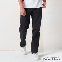 【NAUTICA】男裝 型男百搭休閒長褲(黑色)