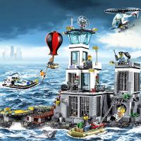 【mk】樂高城市系列拼裝積木玩具海上監獄島飛機警系局警察局男孩子拼圖