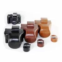 PU Leather Camera Case Protective Cover For Canon EOS M5 M50 EOS M50 II M50 Mark II Camera Bag Shoulder Strap