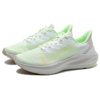 【滿千折百優惠開跑】NIKE 慢跑鞋 ZOOM WINFLO 7 淺灰 螢光綠 漸層LOGO 訓練 健身 休閒 女(布魯克林) CJ0302-100