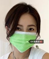 {台灣製造}浩珵 雙鋼印 寬耳帶 成人醫療口罩(50入/盒 )-蘋果綠