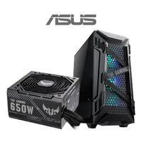 【ASUS華碩 機殼+650W電源】TUF Gaming GT301 電腦機殼+TUF Gaming 650W 銅牌 電源供應器