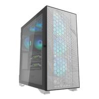 【darkFlash】DLX21 Mesh ATX 電腦機殼/機箱-白 含4顆14公分C6風扇(DF01-0045)