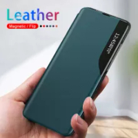 Side Window Leather Flip Case For Xiaomi Mi 11 Lite Cover On Xiomi Mi 11 Pro Mi11 Lite 5G 11pro 11lite Xiaomi11 Mi11lite Mi11pro