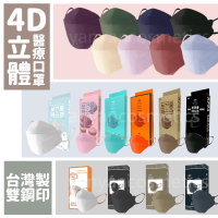 【久富餘】 KF94 4D成人醫療立體口罩 韓國立體口罩 KF94 台灣製 雙鋼印 立體口罩 不脫妝口罩